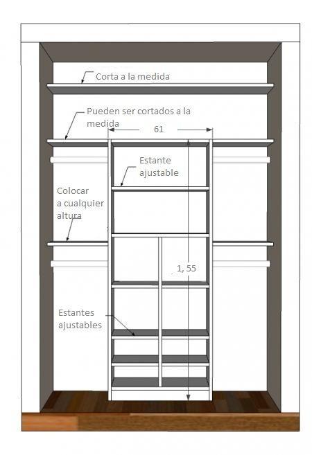 M s de 25 ideas fant sticas sobre como hacer closet en - Tableros de madera medidas y precios ...