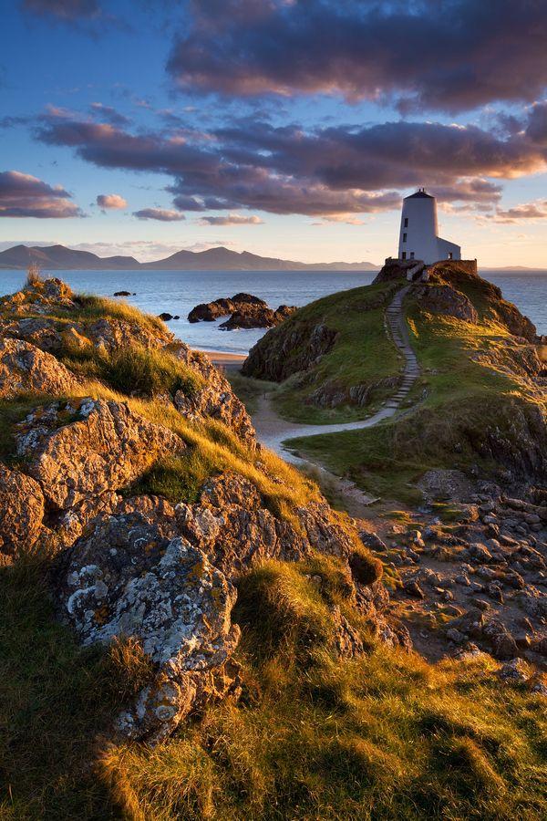 Llanddwyn Island Lighthouse, Anglesey, Wales