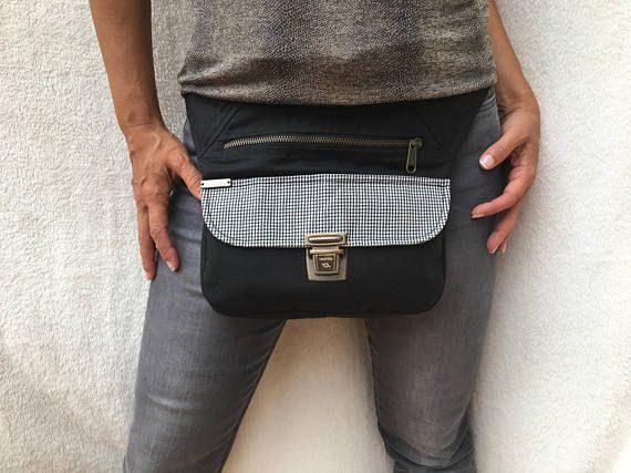 Exclusiva riñonera  bolso  bandolera Waterproof Black