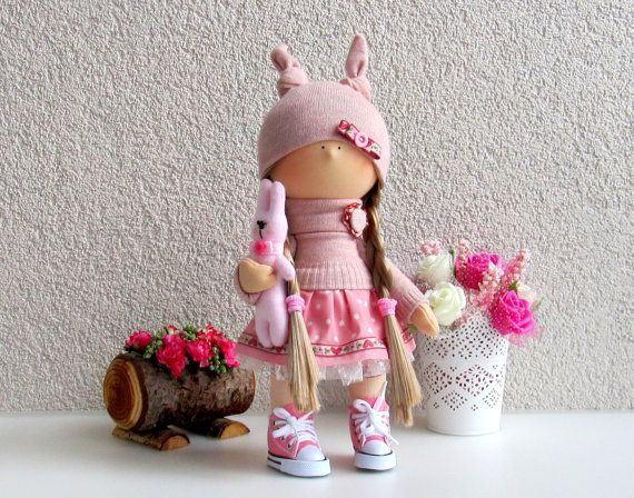 Jessie Doll-Handmade Doll-Fabric Doll-Rag por NICEDOLLSANDRABBITS