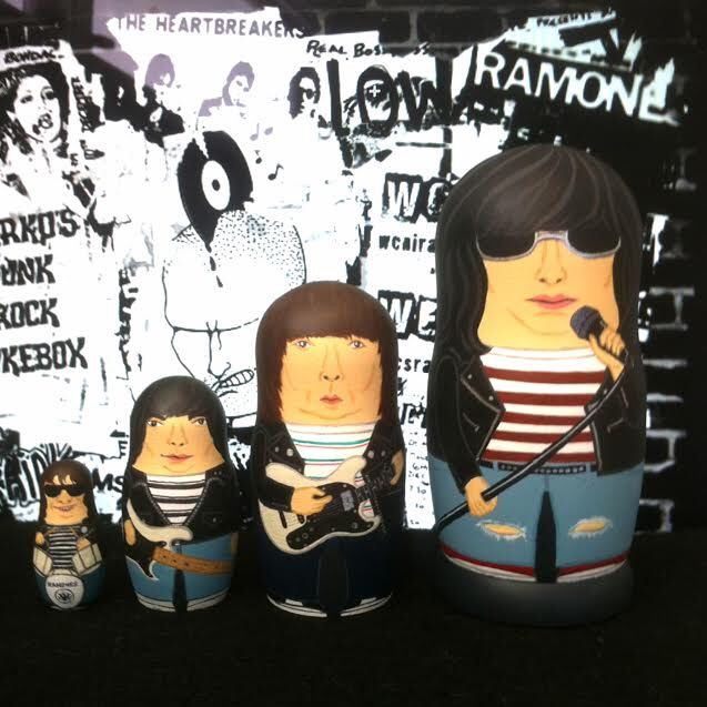 The (Mini) Ramones Matryoshka Dolls by bobobabushka on Etsy https://www.etsy.com/listing/239837498/the-mini-ramones-matryoshka-dolls