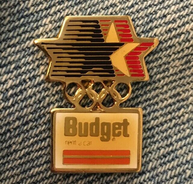 Ernst /& Whinney Olympic Pin~1984 Los Angeles~Stars in Motion Logo~Accountancy