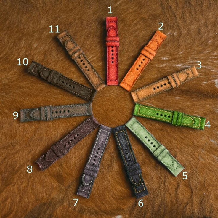 Canvas strap in multi colore from Gunny Straps