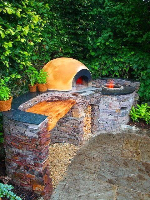Tandoor oven, prep space and Pizza oven all in one! This will be a must-do project once we buy a place. | Stunning Things