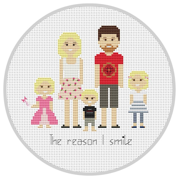 Personalized family 5 characters PDF Cross Stitch Pattern Custom portrait Family Portrait Custom Cross Stitch Embroidery hoop X134 by Xrestyk on Etsy https://www.etsy.com/listing/473706615/personalized-family-5-characters-pdf