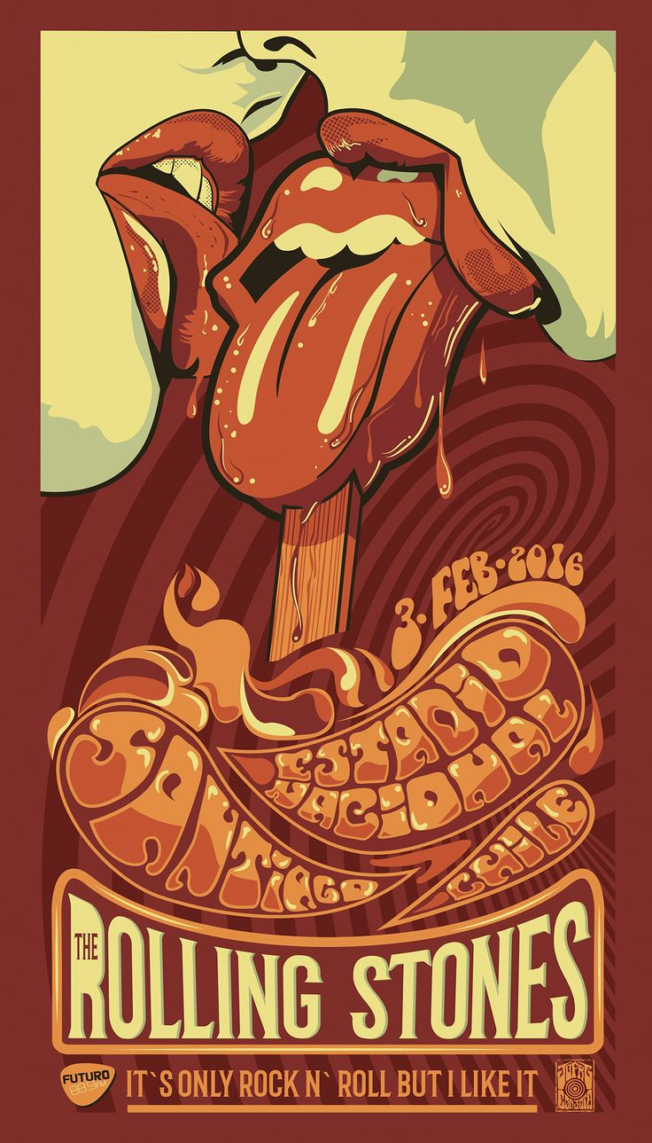 The ROLLING STONES Sudamerican Concert Poster on Behance