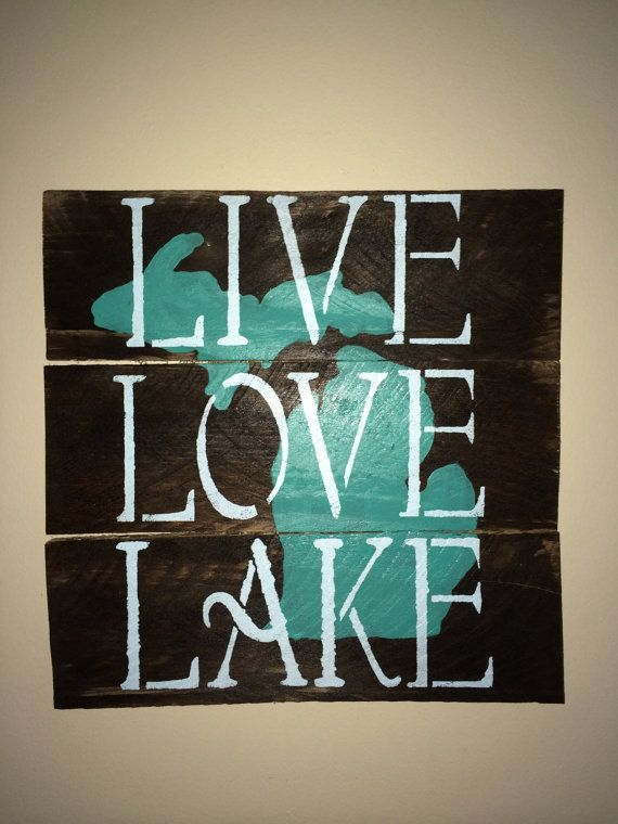 Local Homemade Wooden Pallet Sign. Teal and Light Blue by KBRSigns, $25.00