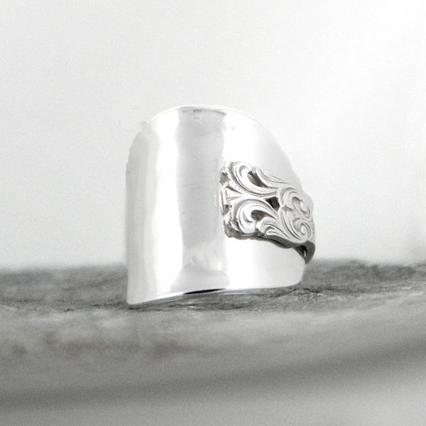 A spoon turned in to a ring