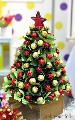 Look at this stunning Ferrero Christmas sweet tree! This would make a delicious Xmas decoration or gift. You could use our good quality polystyrene / Styrofoam cones to create this Christmassy treat. More DIY inspiration available at www.craftmill.co.uk
