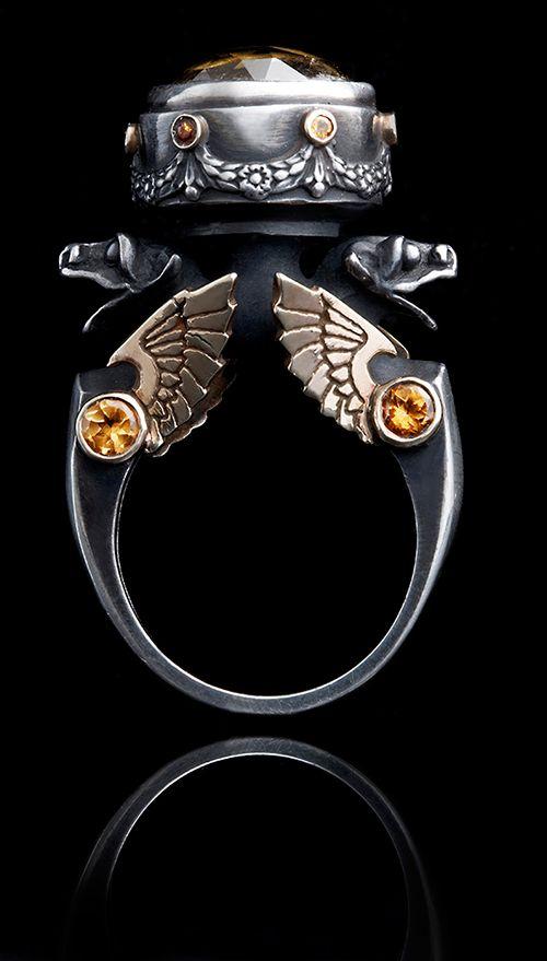 William Llewellyn Griffiths, citrine ring.