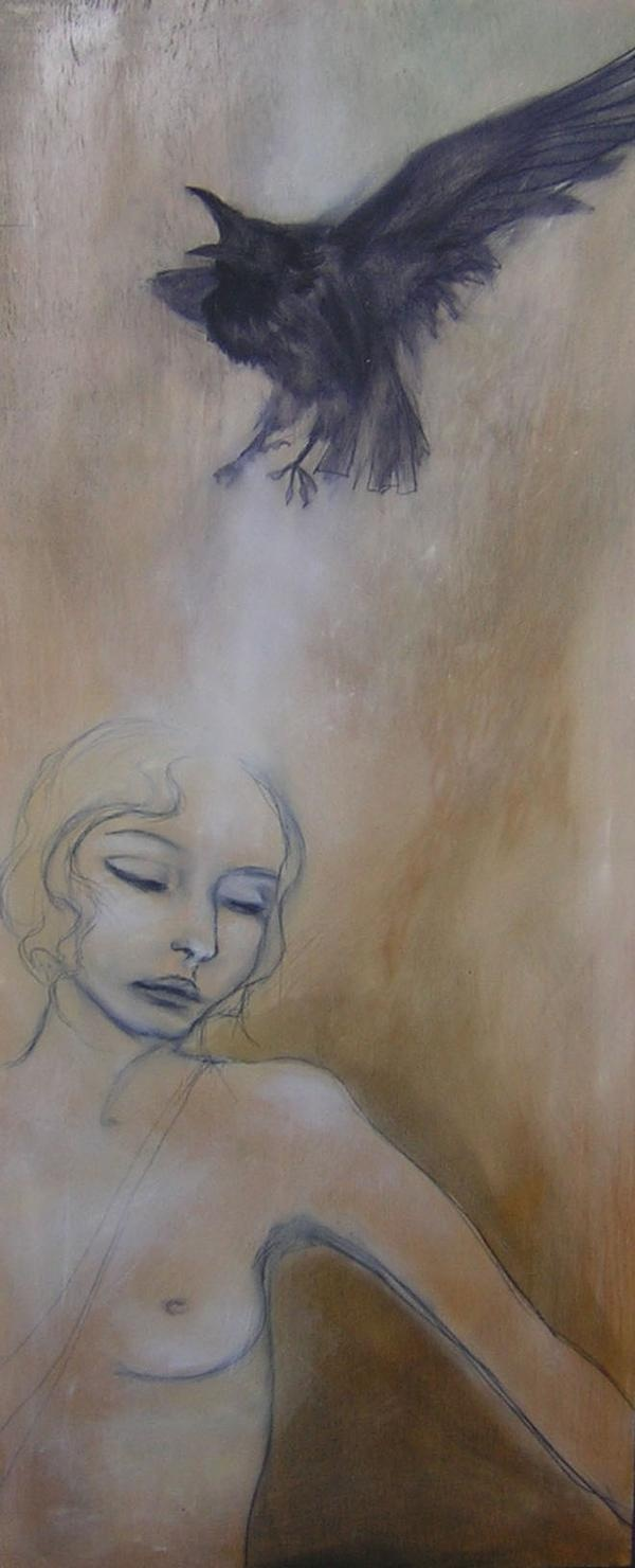 'Transference' oil on wood 2002    Maeve Fianna Callahan.  -sold