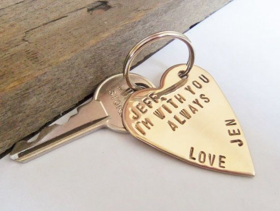 Keychain for Boyfriend Gift for Husband Key by CandTCustomLures, $18.00