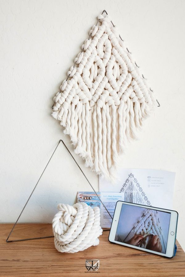 Macrame Wall Hanging Kit with Video D.I.Y