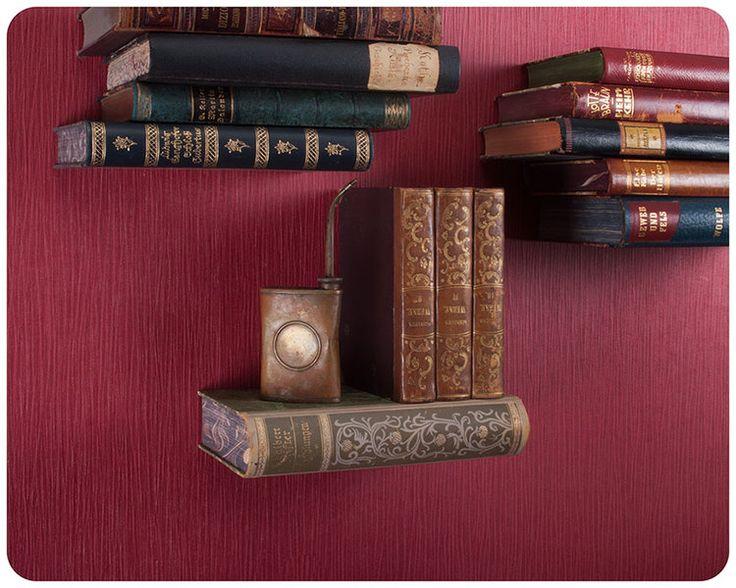 "Unsichtbares Bücherregal - ""schwebendes Buch""  de Schnipselmanufaktur sur DaWanda.com"