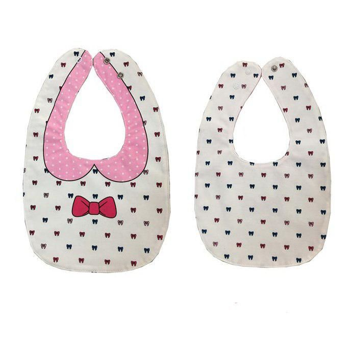 5b3b59466d97 WOTT Best Sale Bow tie double-sided cartoon buckle baby red bow baby mouth  towel