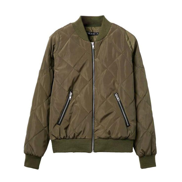 Winter 2016 Pilot Basic Jacket Coat Zipper Black Bomber Jacket Women Cool Biker Outwear Short Parka Chaquetas Mujer X3