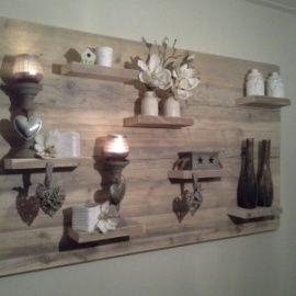 Wanddecoratiebord van oud steigerhout L135xH78cm voorraad artikel (24120141533) | Wanddecoratieborden | JORG`S Houten Meubelen