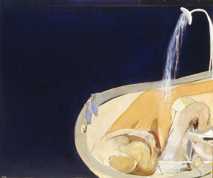 Woman in bath, (1963, re-worked 1964) by Brett Whiteley :: The Collection :: Art Gallery NSW