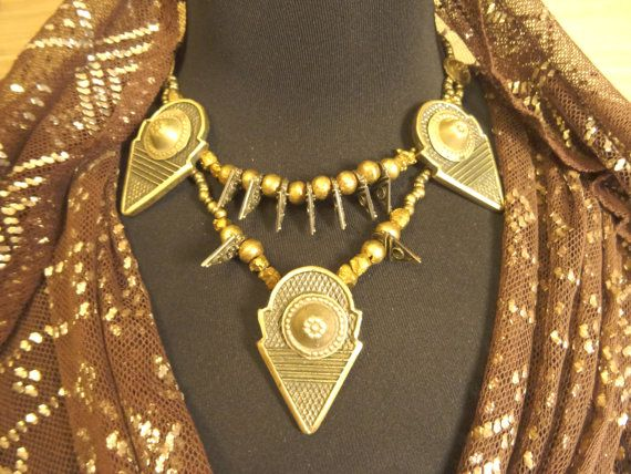 Gorgeous Tribal necklace with metal talhakimt. tribal fusion necklace. Talhakimt  https://www.etsy.com/ru/listing/260853195/gorgeous-tribal-necklace-with-metal