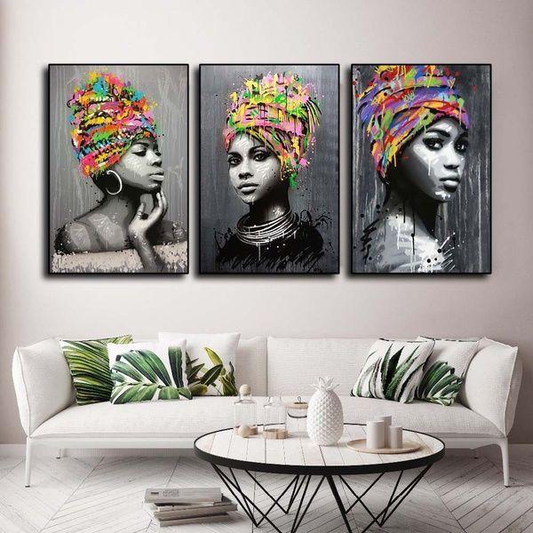 Customized Walls In 2020 African American Wall Art Beautiful Wall Art Wall Art Painting