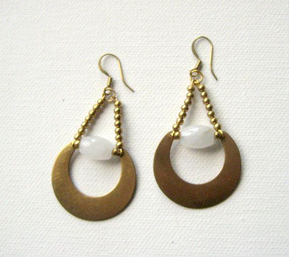 NEW  Boucles d'oreilles JADE par LaetiGrena sur Etsy, €25.80