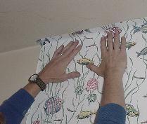 Tapezieren.com, Anleitung zum Tapezieren. Zuschneiden, Kleistern, Zusammenlegen, Anbringen der Tapete, Reparaturen