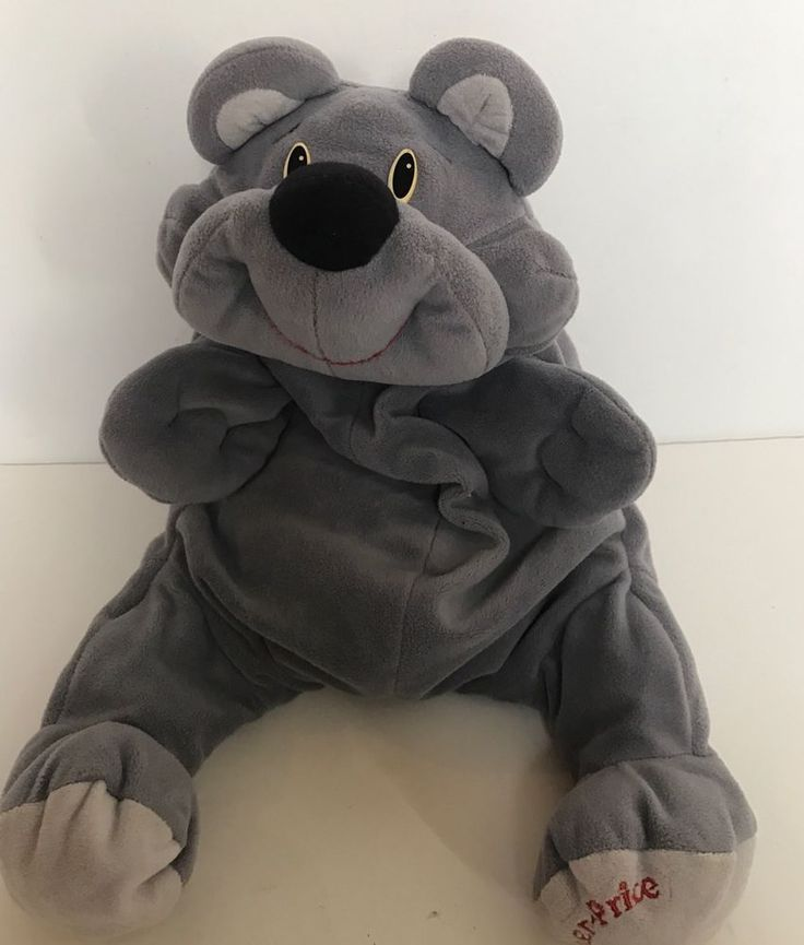 Fisher Price Rumple Grey Gray Plush Bear 993 Vintage 6811 6812 6813 6814 Toy #FisherPrice