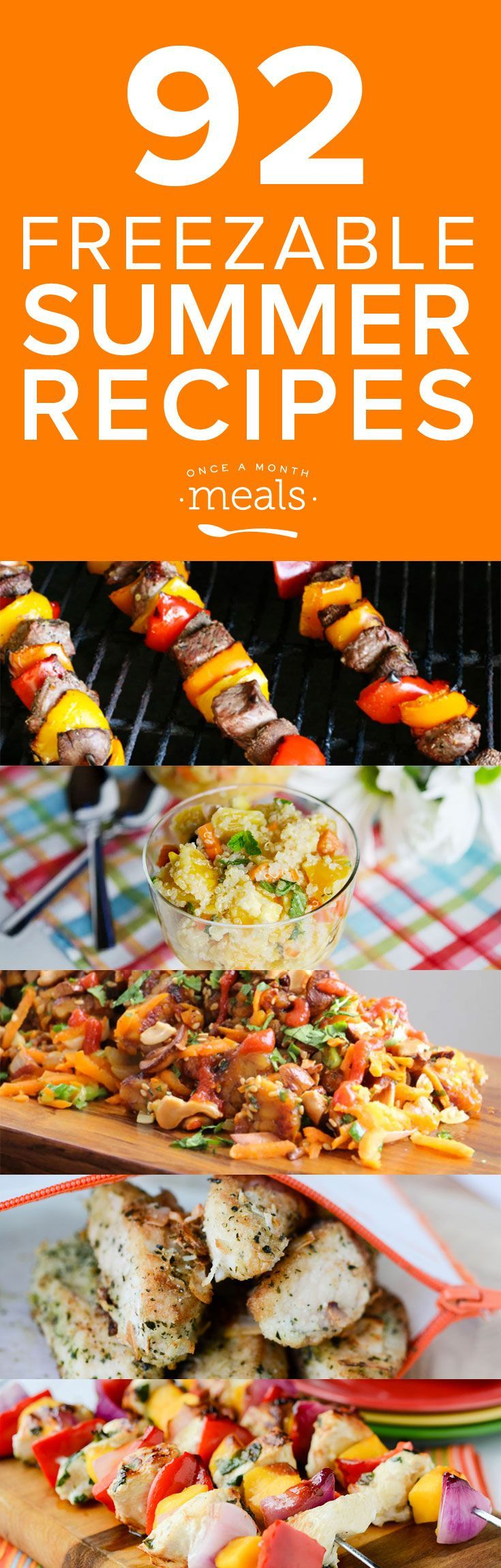 92 summer freezer recipes – one for each day of the season!