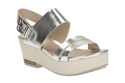 Perez Glitter, Silver Metallic, Womens Casual Sandals