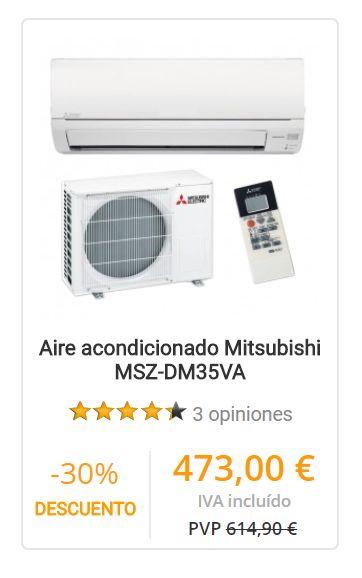 Aire acondicionado Mitsubishi MSZ-DM35VA
