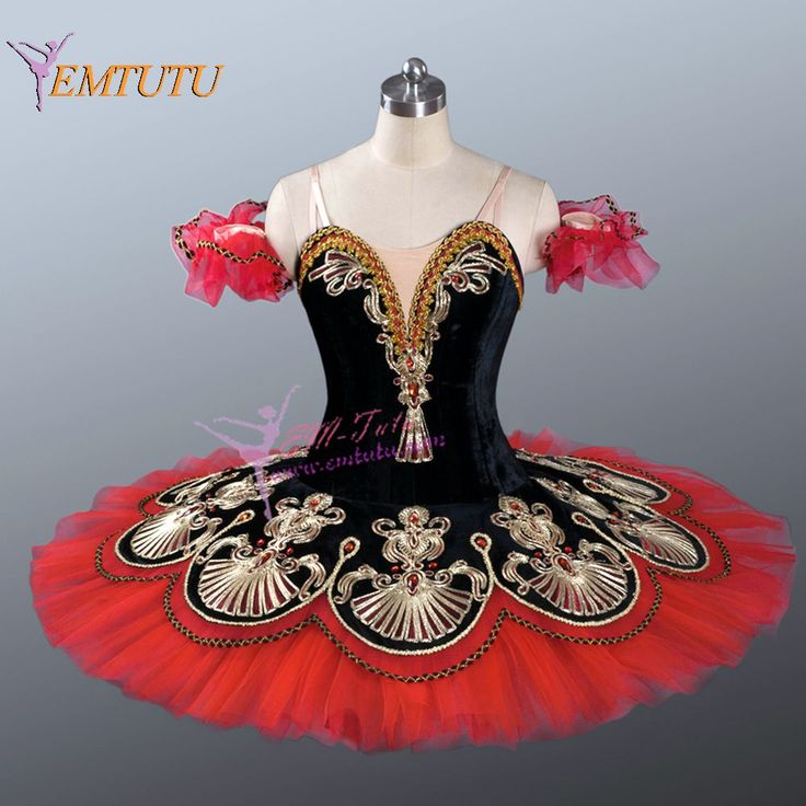 black and red professional ballet tutu,adult pancake platter performance stage ballerina professional ballet costume for women(China (Mainland))