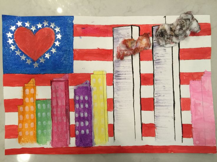 Twin towers 3rd grade art project 9 11 poster never for Craft schools in usa