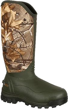 ROCKY BRANDS WHOLESALE LLC Core Rubber Boot Thinsulate 1000g Green/Realtree Size 12, PR
