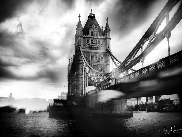 Tower bridge  London in a dramatic atmosphere - www.aziznasutiphotography.com