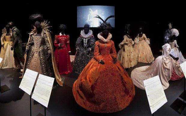 The V&A's Hollywood Costume exhibition. The royals. I think my favourite section. Having the film clips helped show how the clothes had been worn, and in relation to other costumes/characters.