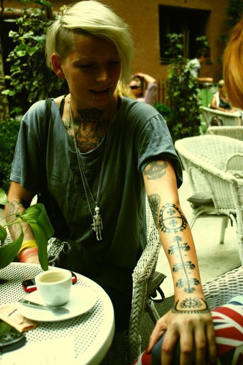 Traditional Croatian Tattoo on Marina Mesar. Tattooed by Veronika Poljak.