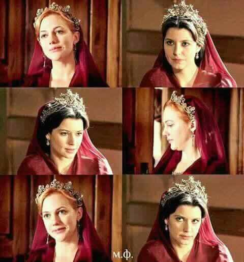 "All the fandom is like: ""Oh, wouldn't it be perfect if two greatest sultanas of all time met?"" And I think that would probably ended up with Hürrem kicking her great-great-granson Ahmed's arse for dismissing the miniaturists and losing all tha battles. Not very glorious."