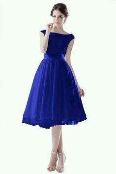 Vestido azul rey corto extra