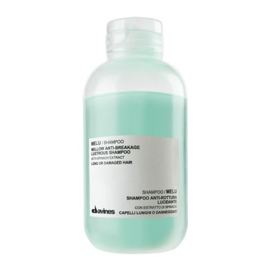 MELU Anti-breakage Lustrous Shampoo. Ideal for the cleansing of long or damaged hair. It is particularly indicated for long hair with a tendency to break, thanks to its active ingredients which respect the structure of long hair and strengthen it.
