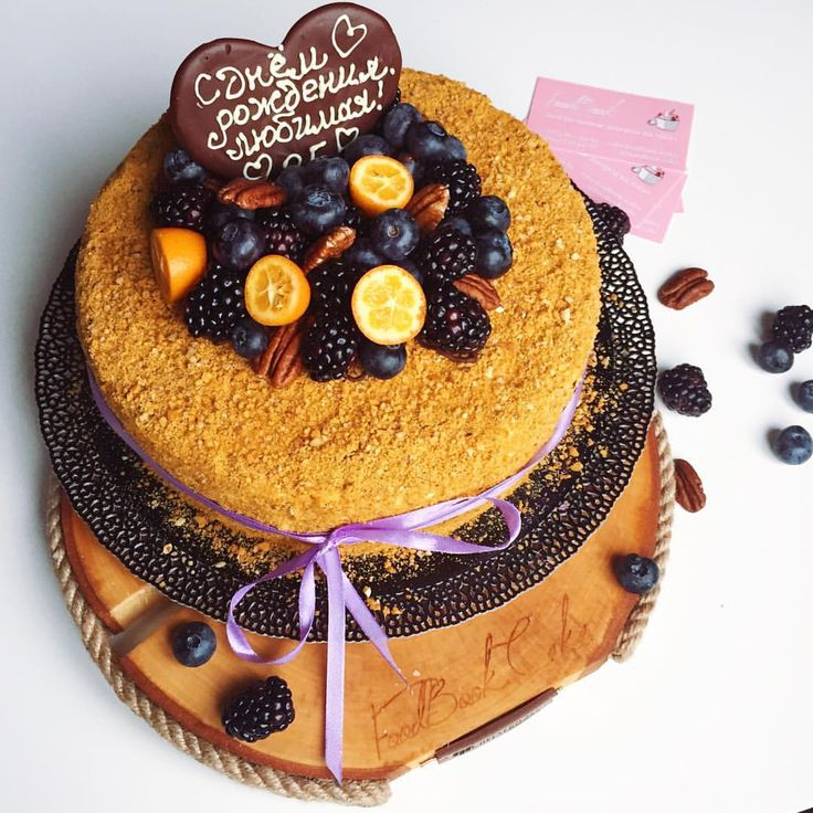 торт сметанный с мёдом рецепты с фото