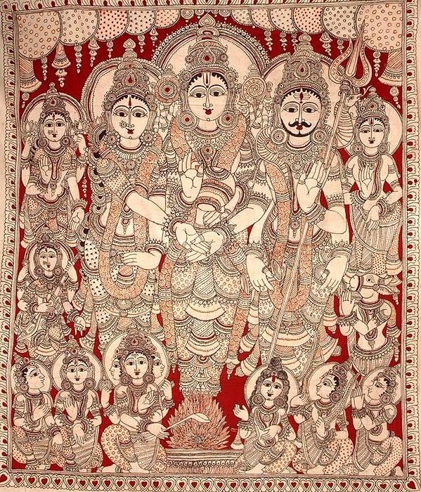 the marriage kalamkari art