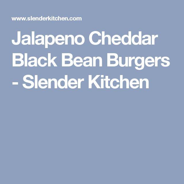 Jalapeno Cheddar Black Bean Burgers - Slender Kitchen