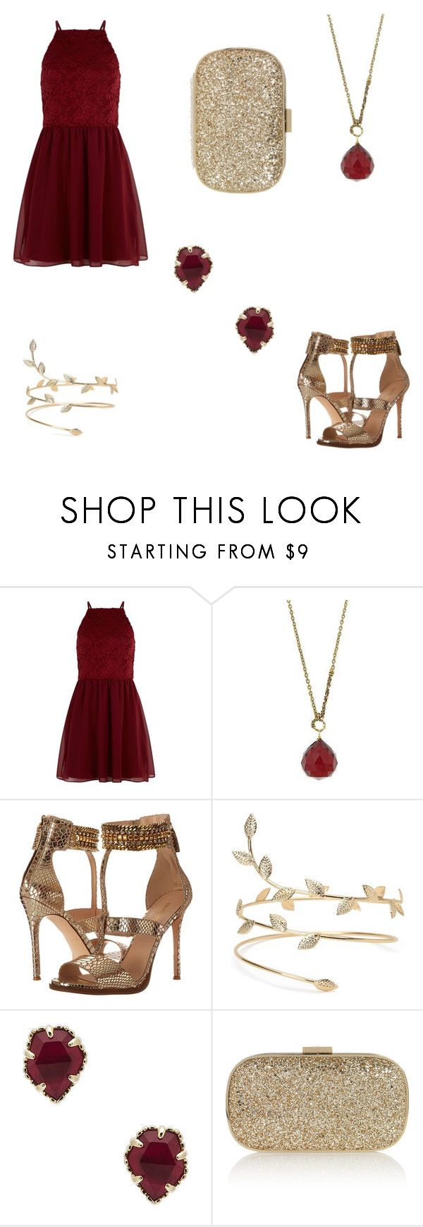 """""""Opening night"""" by destinyl734 ❤ liked on Polyvore featuring New Look, 1928, Nine West, Kendra Scott and Anya Hindmarch"""