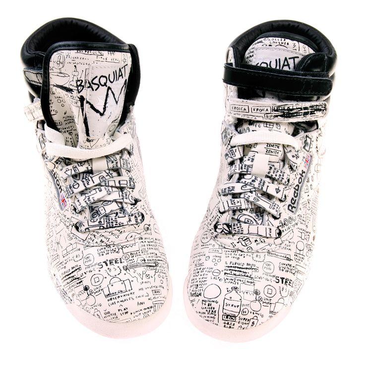 Baskets Reebok en hommage à Basquiat.