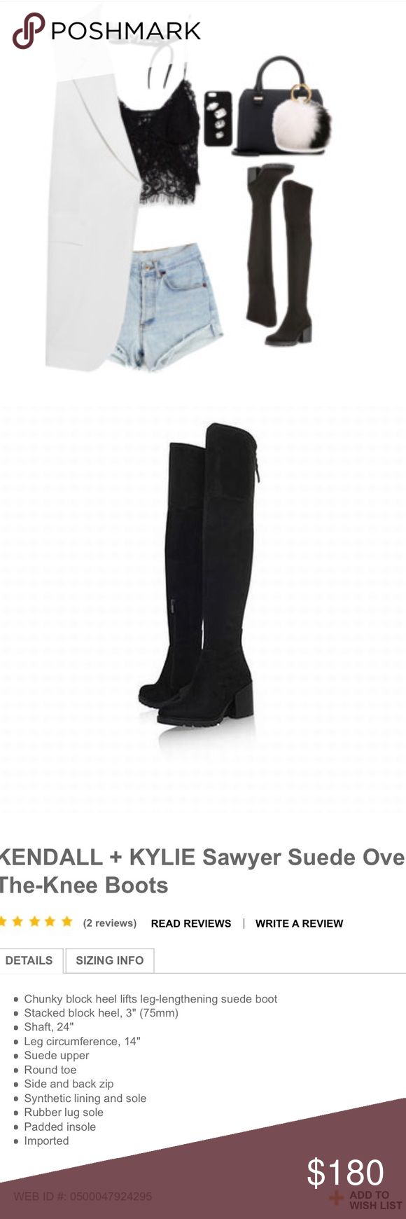 Kendall + Kylie Over the Knee Sawyer Boot OTK boots by Kendall and + Kylie Jenner. Never worn! Kendall & Kylie Shoes Over the Knee Boots