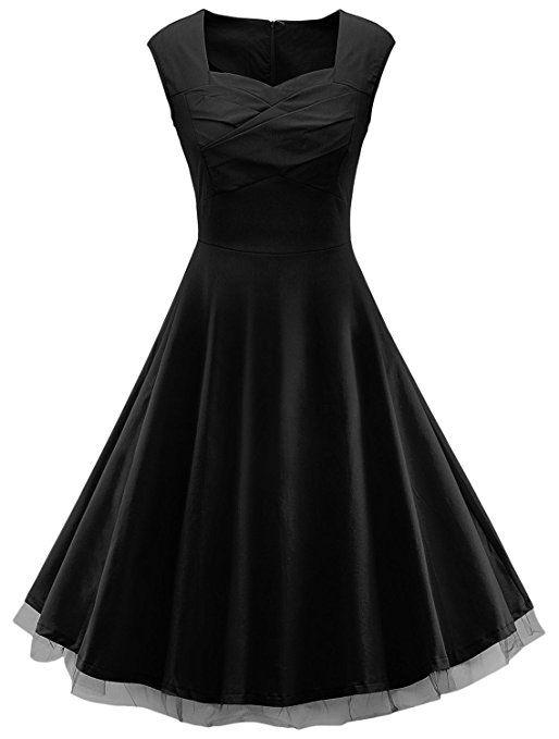 #Teenloveme - #Vestito #estivo da donna, #vintage stile #anni50 Italia, casual , senza maniche