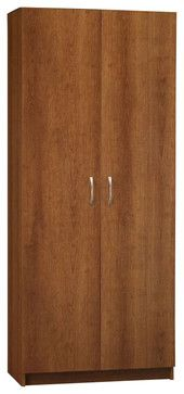 """Ameriwood 72"""" Pantry in Inspire Cherry - transitional - Pantry Cabinets - Cymax"""