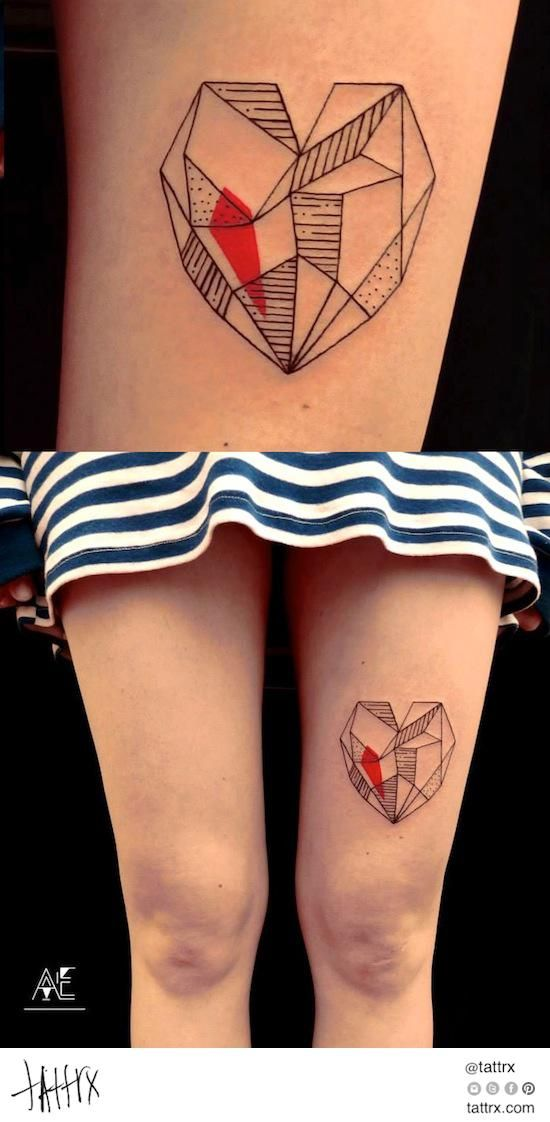 Axel Ejsmont - Geo Heart tattrx.com/artists/axel-ejsmont tumblr: axelejsmont