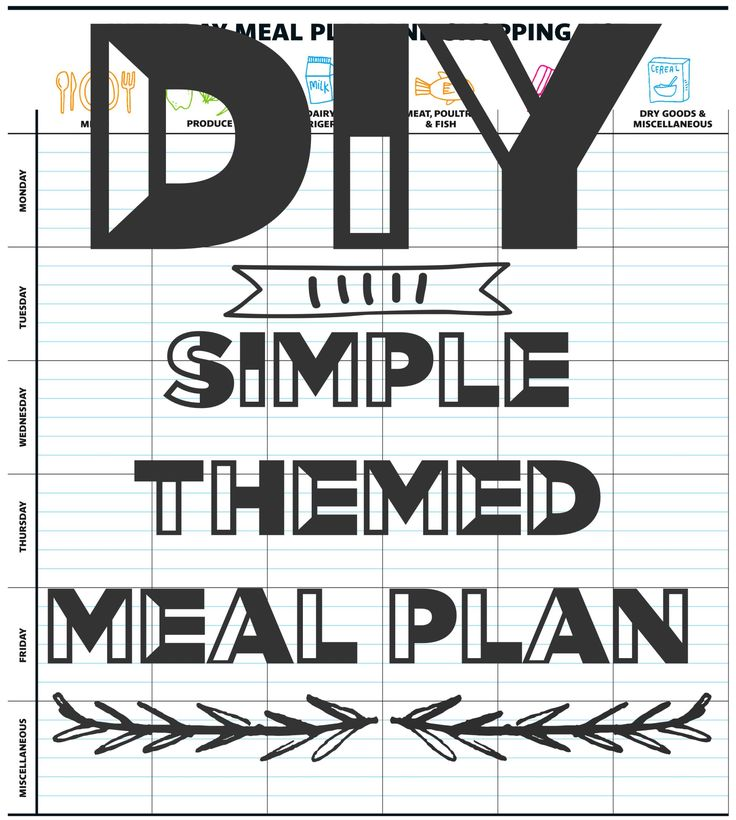 DIY Simple Themed Meal Plan. Let me Show you How! (scheduled via http://www.tailwindapp.com?utm_source=pinterest&utm_medium=twpin&utm_content=post129948809&utm_campaign=scheduler_attribution)