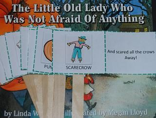 Activity to go along with the book The Little Old Lady Who Wasn't Afraid of Anything by Linda Williams - Literacy activities are great in helping with comprehension